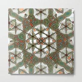 Abstruse Lines Kaleidoscope Metal Print