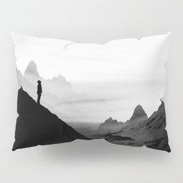 black wasteland isolation Pillow Sham