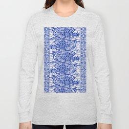 Sapphire Blue Lace Long Sleeve T-shirt