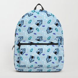 Dog Paradise in Blue Backpack