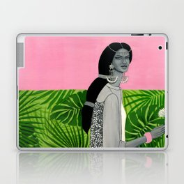 girl with a flower Laptop & iPad Skin