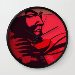 JIBARO SAMURAI RED Wall Clock