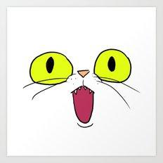 Cat Face 1 Art Print