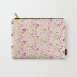 Pink Wildflowers Carry-All Pouch