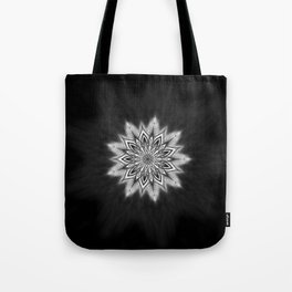 Black Ice Mandala Swirl Tote Bag