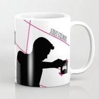 stiles Mugs featuring Stiles Stilinski by smartypants