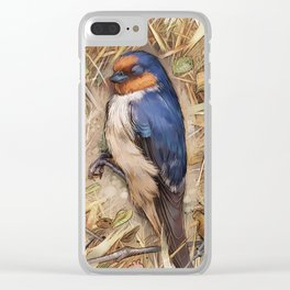 Sleeping Bird Clear iPhone Case