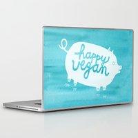 vegan Laptop & iPad Skins featuring Happy Vegan by Anke Weckmann