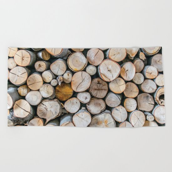 Logged Beach Towel