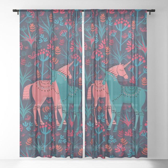 Unicorn Land Sheer Curtain