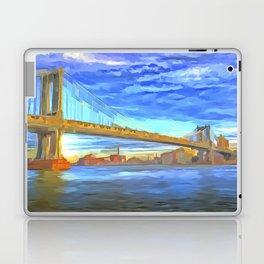 Manhattan Bridge Pop Art Laptop & iPad Skin