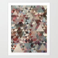 Triangles Rusty Art Print