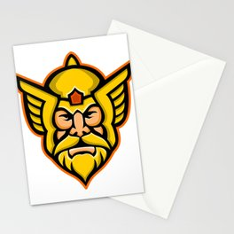 Thor Norse God mascot Stationery Cards