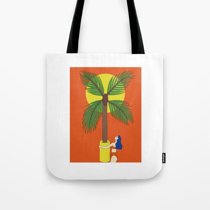 Palm Tree Vase Take You Home Tote Bag By Danahong Society6