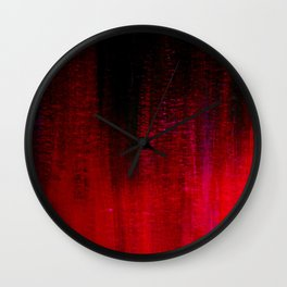 Red and Black Abstract Wall Clock