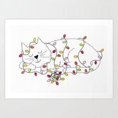 Christmas Nap Art Print
