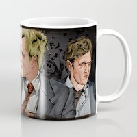 true detective Mugs featuring True Detective by The Art Warriors