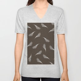 superb lyrebird feathers  Unisex V-Neck