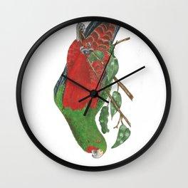 Curious King Parrot Wall Clock