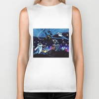 wall e Biker Tanks featuring Wall-E Collage by artbywilliam