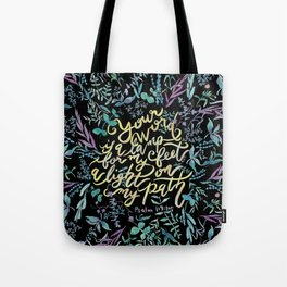 Your Word is a Lamp - Psalm 119:105 Tote Bag