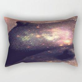 Galaxy Breasts Mauve Teal Rectangular Pillow