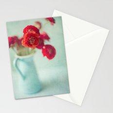 Ranunculus in Blue Vase Stationery Cards