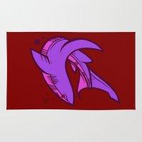 shark Area & Throw Rugs featuring Shark by Artistic Dyslexia