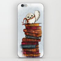 hedwig iPhone & iPod Skins featuring Hedwig by Sam Skyler