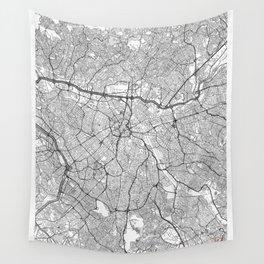Sao Paulo Map Line Wall Tapestry