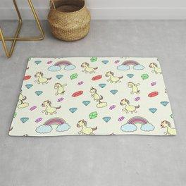 Unicorn print, unicorn nursery, unicorn background Rug