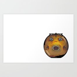 Fat Fish, Little Bowl Art Print