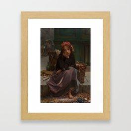Guillaume-Charles Brun - Young Rag Seller [1870] Framed Art Print