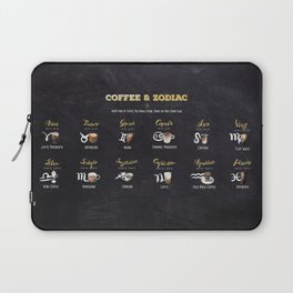 Coffee type and Zodiac sign #4 Laptop Sleeve
