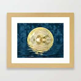 Golden moon Framed Art Print