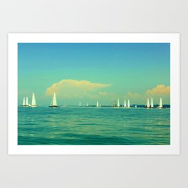 Sailing on Lake Constance Art Print