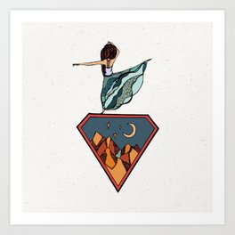 Dancing in the Mountains Art Print