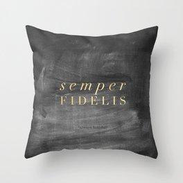 Semper Fidelis Throw Pillow
