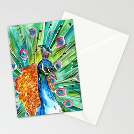 Vibrant Peacock Stationery Cards