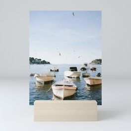 Boats of Hvar   Croatia ocean sea fine art photography print   Wanderlust travel poster Mini Art Print