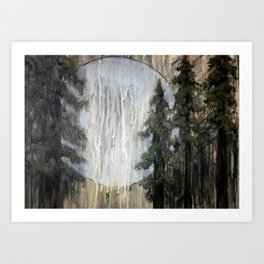 Moonlight through the Redwoods Art Print