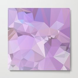 Electric Lavender Abstract Low Polygon Background Metal Print