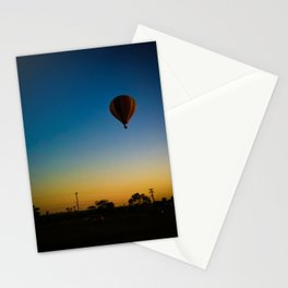 Blue, yellow and balloon  Stationery Cards