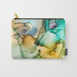 Caribbean Beach- Alcohol Ink Abstract Painting Carry-All Pouch
