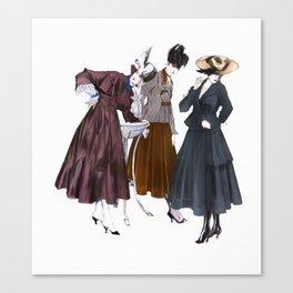 Three Vintage Dresses Canvas Print