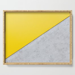 Yellow & Gray Abstract Background Serving Tray
