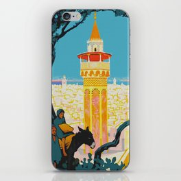 Tunis Tunisia - Vintage Africa Travel Poster iPhone Skin