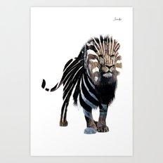 Lion spy II mission logo noir urban fashion culture Jacob's 1968 Paris Agency Art Print