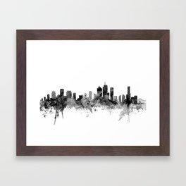 Brisbane Australia Skyline Framed Art Print