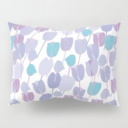 Bunch of blue and purple tulips Pillow Sham